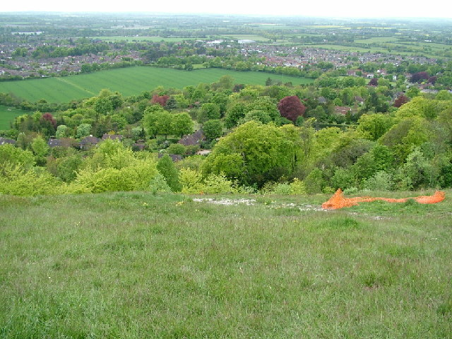 Princes Risborough from near Whiteleaf Cross