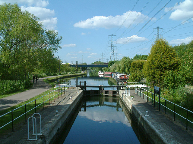 Rammey Marsh Lock and M25 bridge