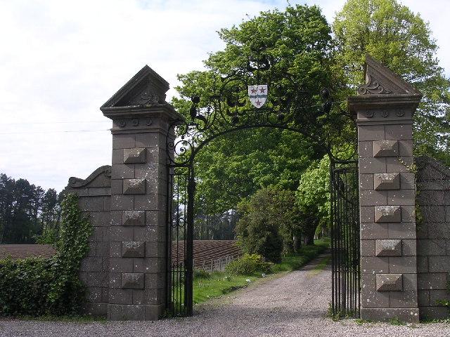 Gates to Pitkerro House