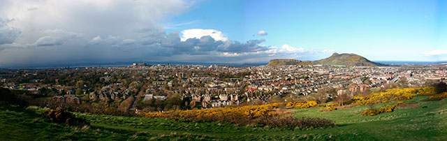 Panorama of Edinburgh from Blackford Hill