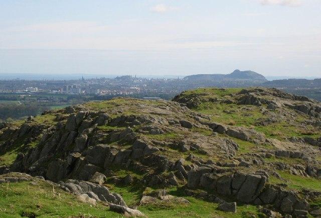 Edinburgh from Dalmahoy Hill