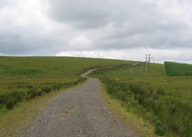 Hagshaw Hill access road