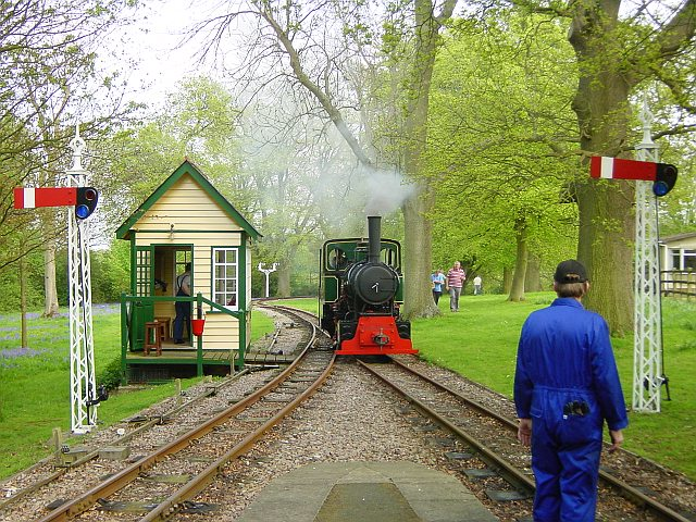 Bronhilde steams into Warren Wood