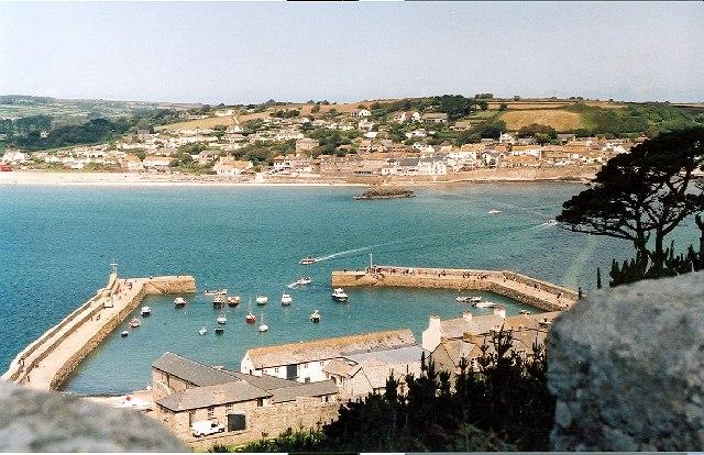 St Michaels Mount Harbour and Marazion