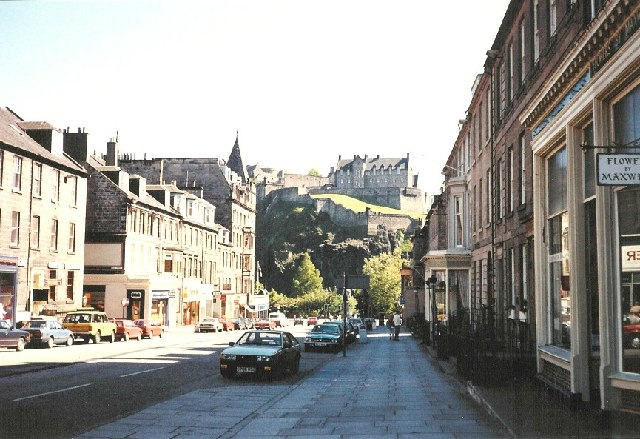 Castle Street  below Edinburgh Castle