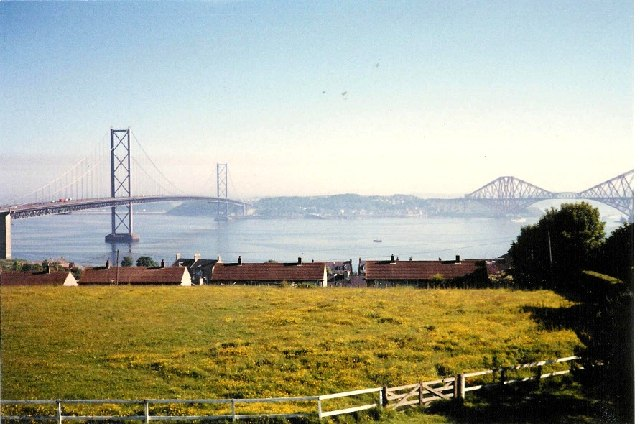 Bridges across the Firth of Forth at Queensferry
