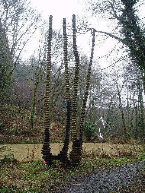 Broomhill Sculpture gardens near Barnstaple