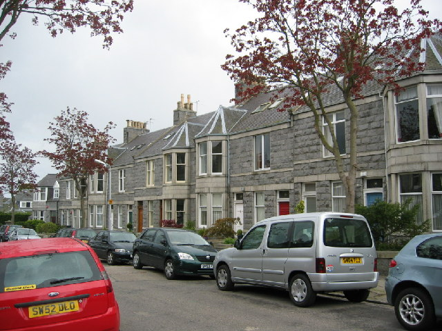 Granite terraced housing