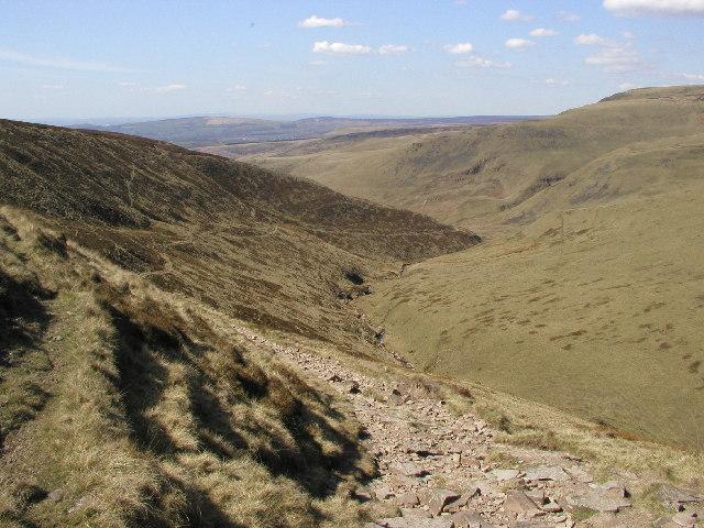 Looking north westwards down Doctor's Gate