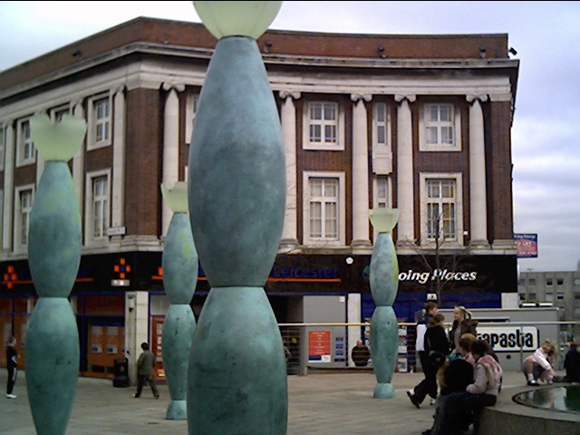 Sculpture in Warrington Town Centre