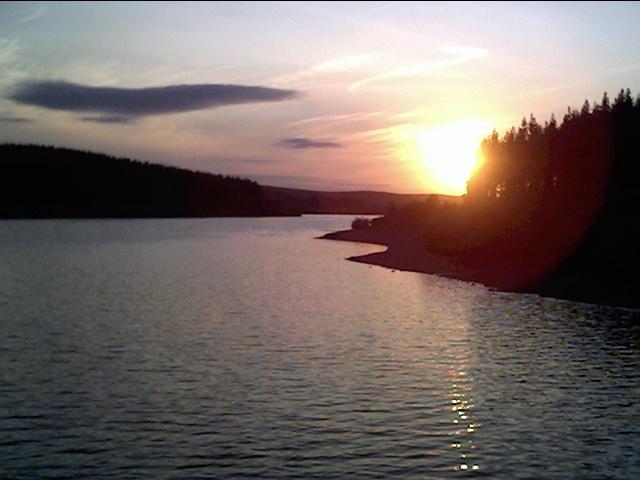 Alwen Reservoir at Sunset