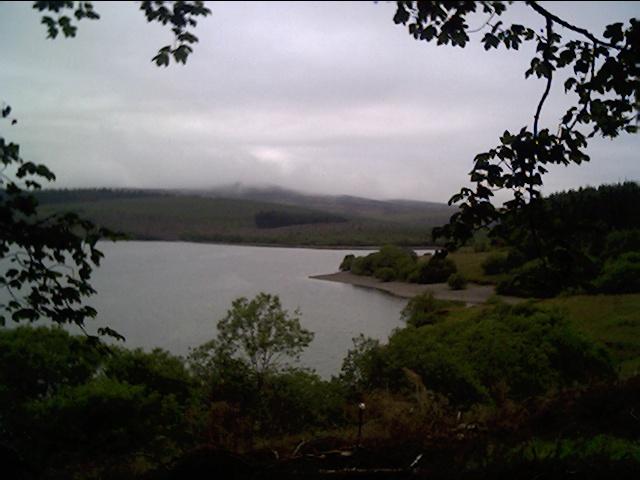 Alwen Reservoir at the far end
