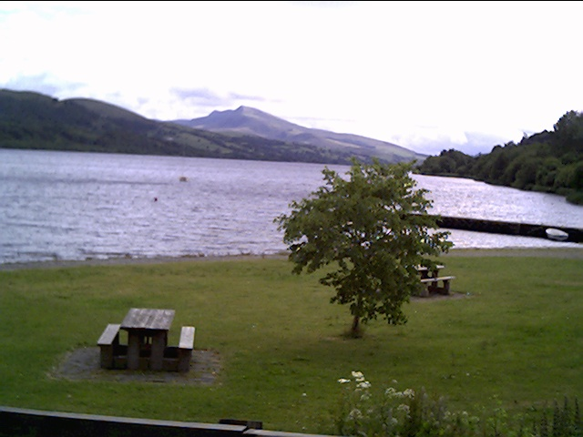 Picnic Area on the Shore of Bala Lake