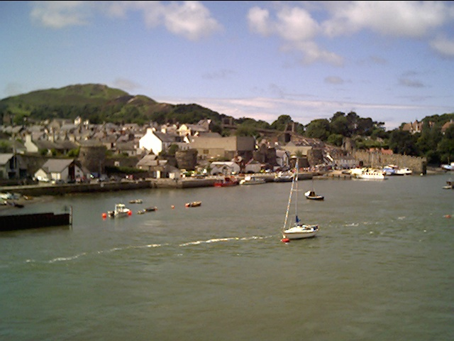 View of Conwy Bay from a Boat
