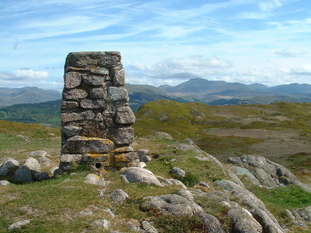 Trig Point on Hooker Crag