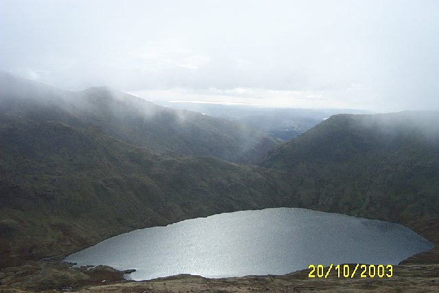Grisedale Tarn from southern slopes of Dollywagon Pike