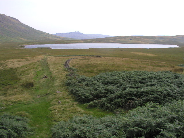 Burnmoor Tarn from the north approach