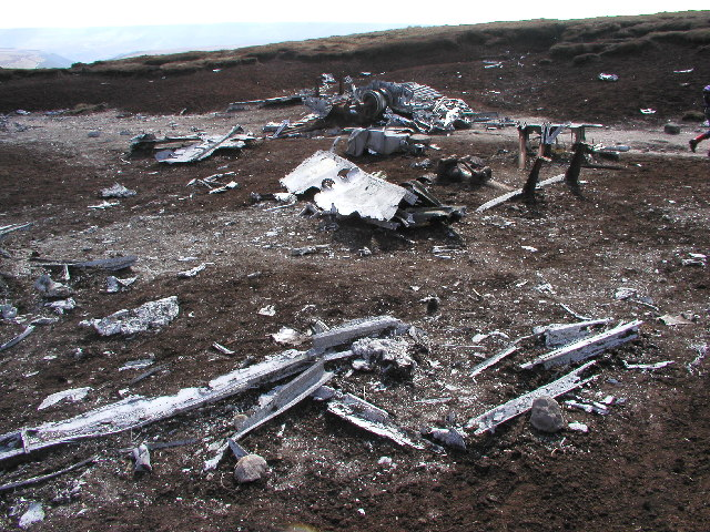 The remains of a crashed B29 Superfortress
