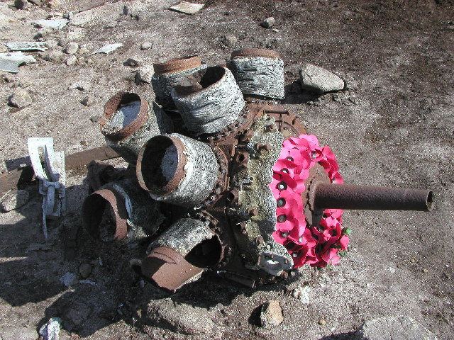 Engine from the crashed Superfortress