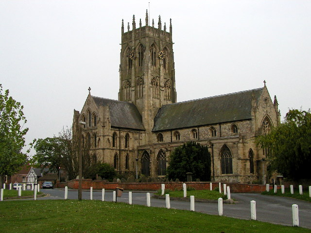 Hedon Church from Market Hill