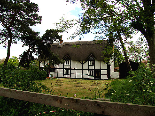 """Old Thatch"" near Brimpton and Crookham"