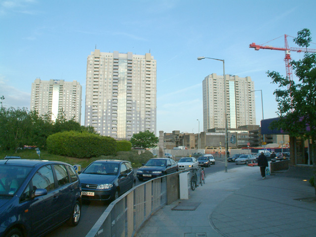 High-rise flats in Edmonton Green