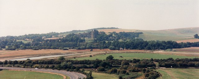 Lancing College and part of A27 Flyover