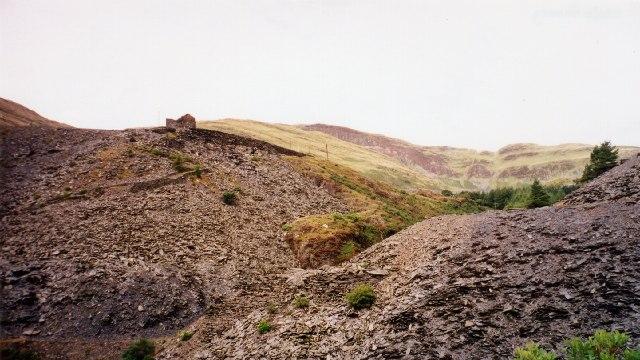 Spoil at Llechwedd Slate Quarry