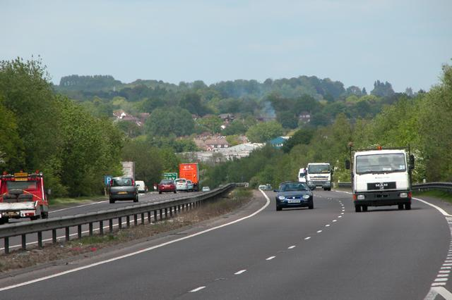Looking North on the A3 Petersfield Bypass