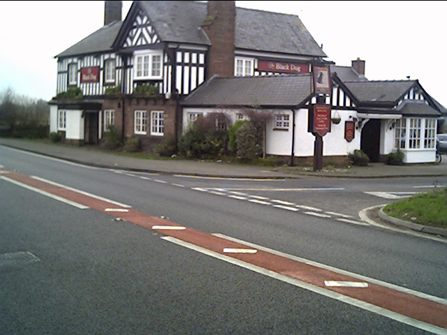 The Black Dog Pub near Chester off the A41