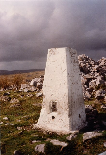 OS Trig point at Cribarth