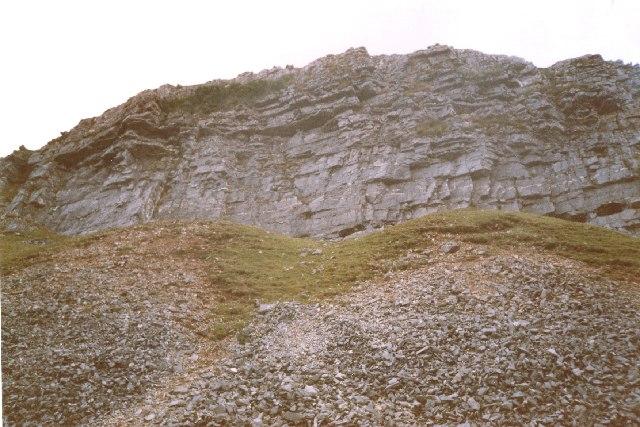 Limestone with chert banding