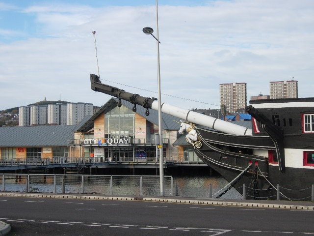 City Quay and 'the Unicorn'