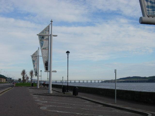 Tay Road bridge and the estuary of the Tay