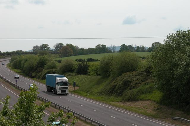 A3 Petersfield bypass and farmland.
