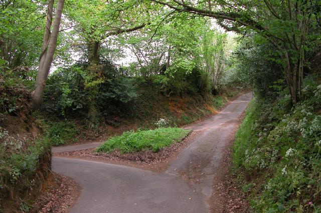 Junction of sunken lanes at Stodham Lane