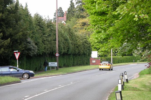 Junction of Hatch lane at the entrance to Rake village