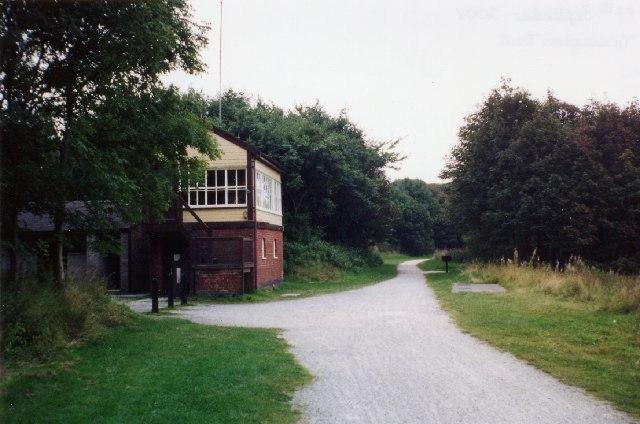 Hartington Signal Box and the Tissington Trail.