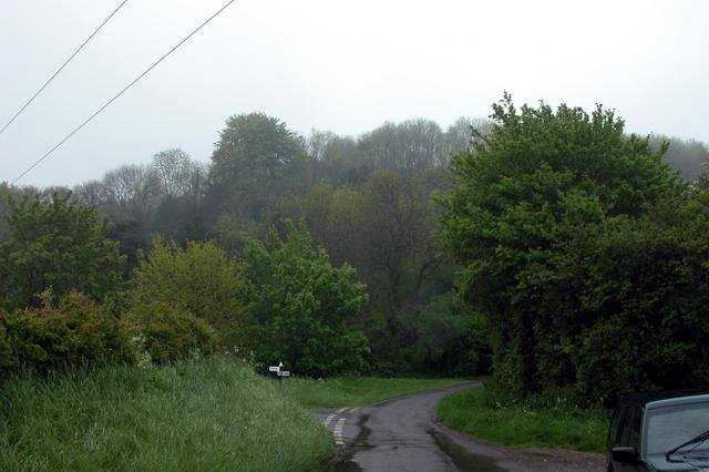 Road junction at the foot of Torberry Hill