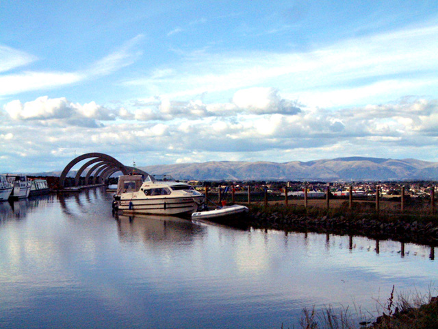 Falkirk Wheel from the top.