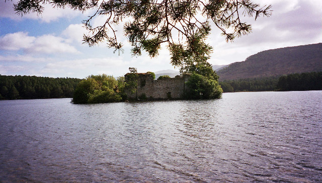 The castle on the islet in Loch an Eilein