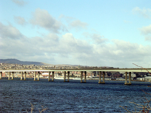 Tay Road Bridge and Dundee