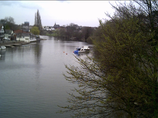 View of the River Dee from the suspension Bridge