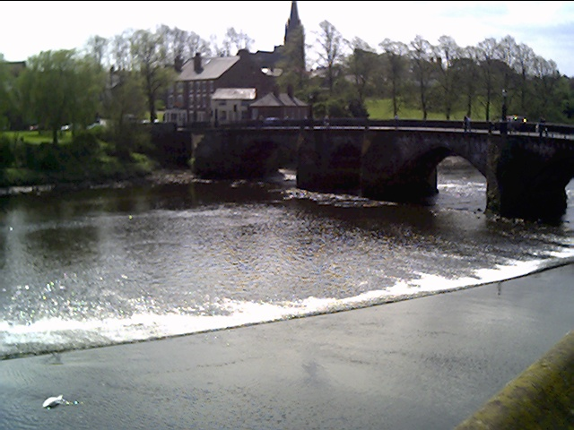 Old Dee Bridge and the Weir from the City Side