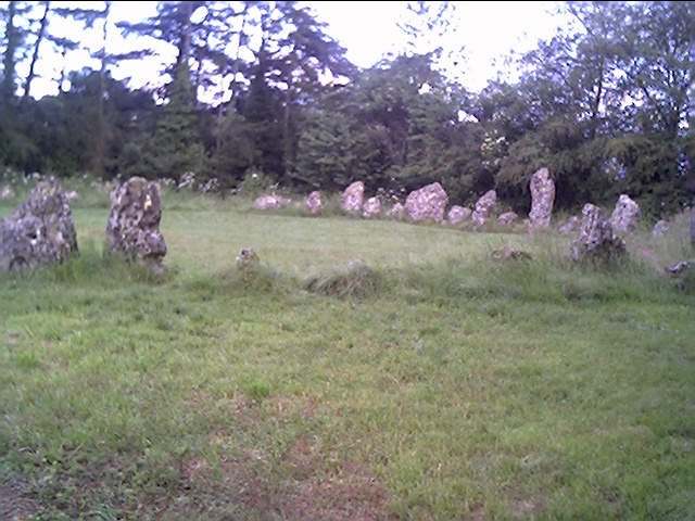 Rollright Stone Circle, from the entrance path.