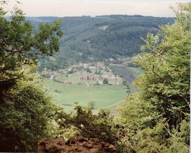 Tintern Abbey, Tintern  and the River Wye