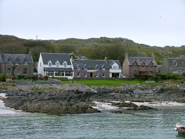 The seafront and houses on the Island of Iona