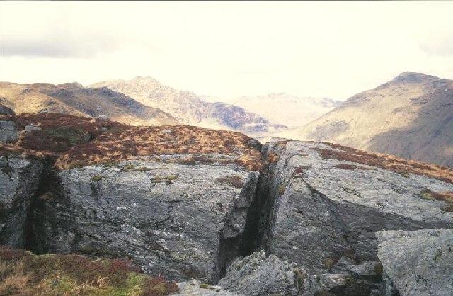Landslip chasms, Ben Donich