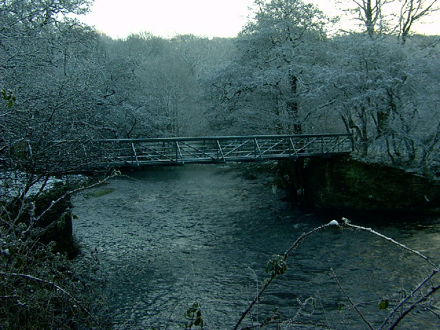 Foot Bridge over the River Etherow