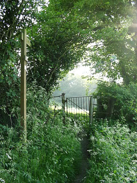 Kissing Gate to footpath off Yeld Lane, Kington